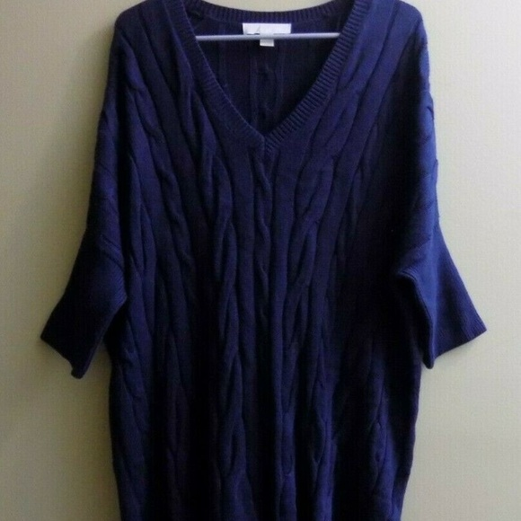 Michael Kors Sweaters - MICHAEL Michael Kors Women Tunic Knit Navy Sweater